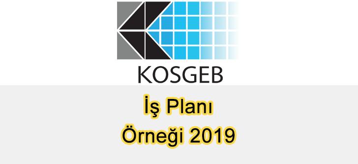 KOSGEB İş Planı Örneği 2019