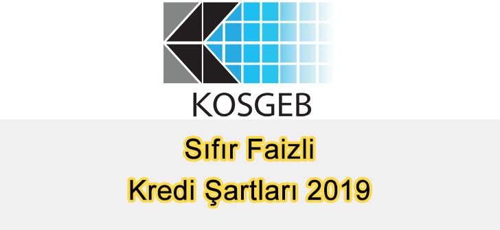 KOSGEB Sıfır Faizli Kredi Şartları 2019