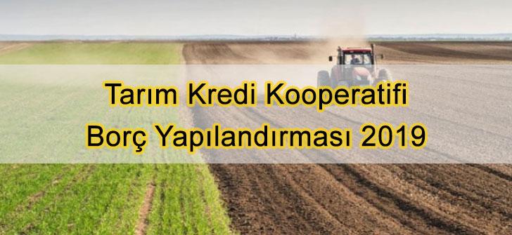 Tarım Kredi Kooperatifi Borç Yapılandırması 2019
